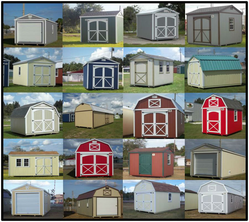 Garden Sheds Florida daytona beach storage sheds barns daytona beach storage shed kits