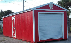 12X32 GARAGE SHED WITH EXTRA DOOR .jpg